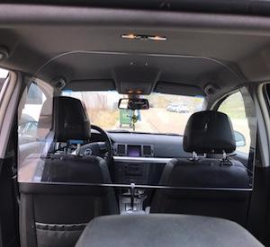 Mampara protectora coche